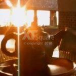 Hangatnya Teh Boko Di Sore Hari Sambil Menikmati Matahari Terbenam