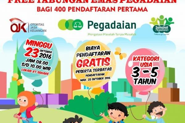 Lomba Mewarnai Usia 3-5 Tahun Gratis Tabungan Emas Pegadaian untuk 400 Pendaftar Pertama