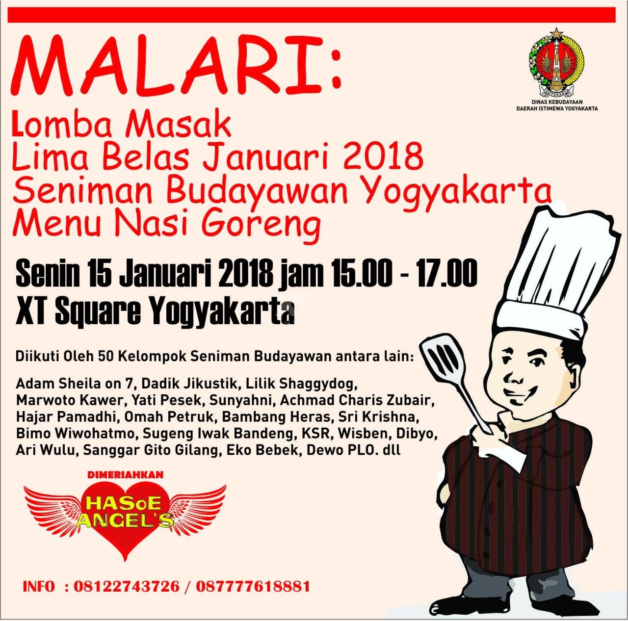 Lomba Masak Lima Belas Januari MALARI Seniman & Budayawan Yogyakarta