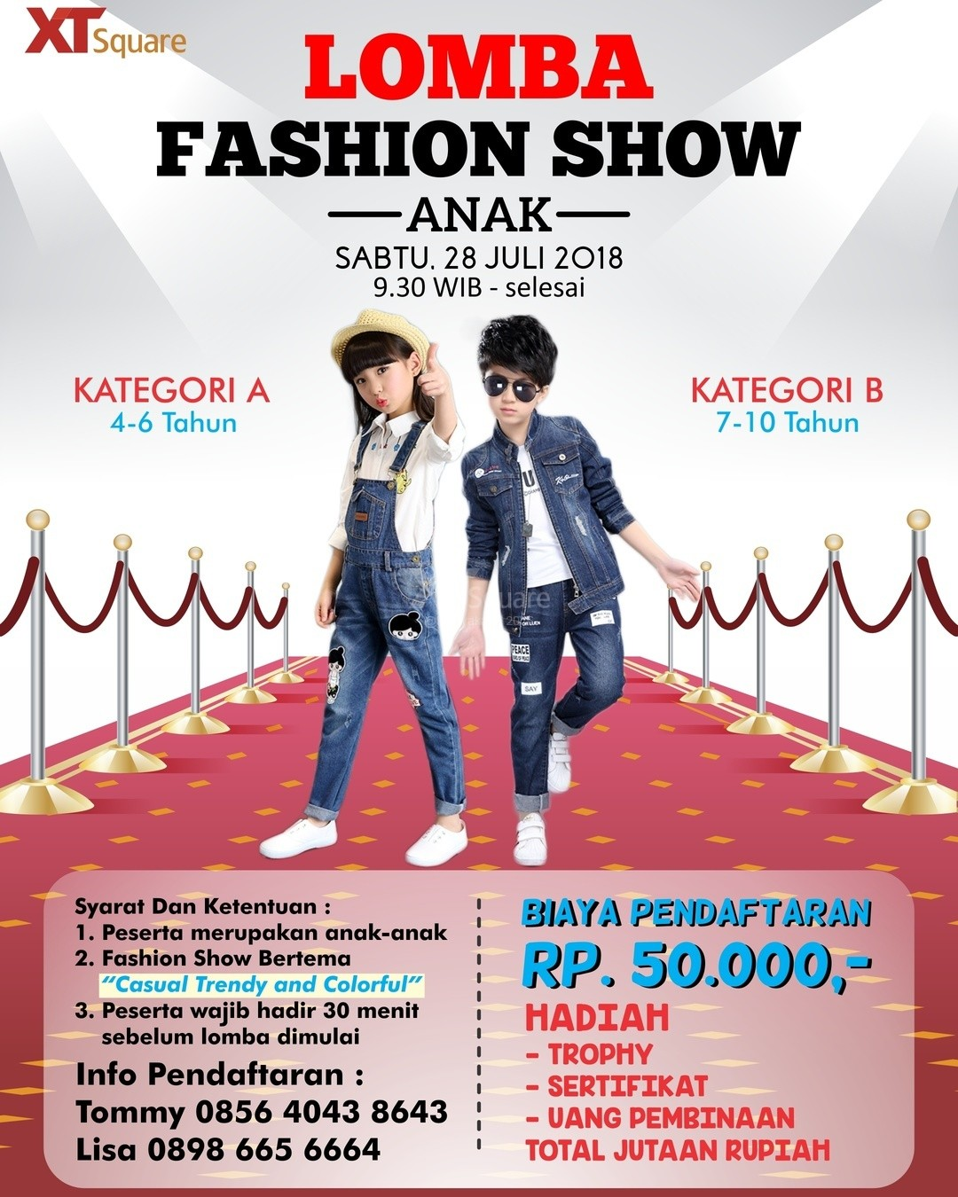 Lomba Fashion Show Anak XT Square 2018